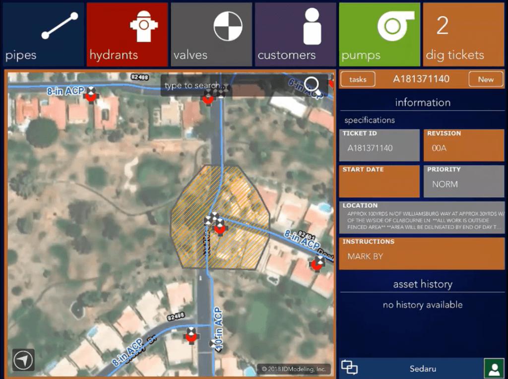 Sedaru solutions for automating 811 utility locates 1