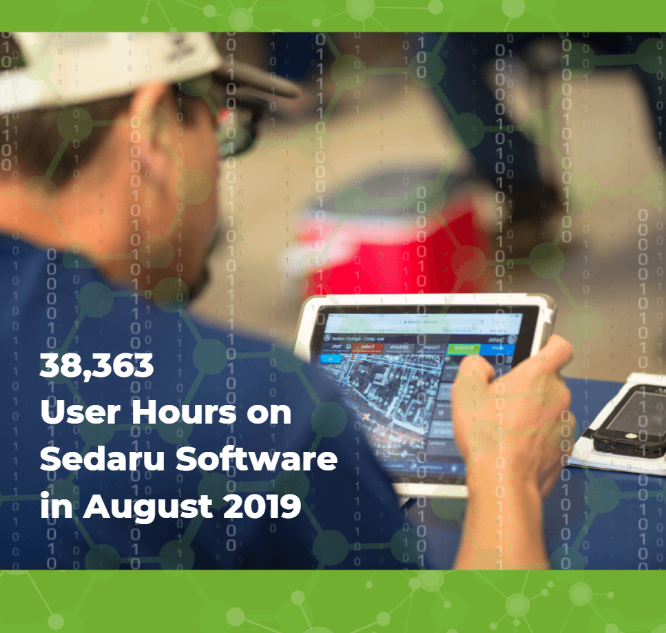Utility Users Spend Nearly 40,000 Hours on Sedaru Software in August 1