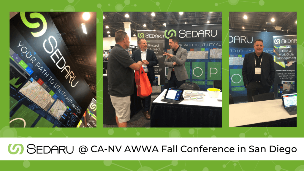 Visit Sedaru in San Diego at the CA-NV AWWA Fall Conference! 1