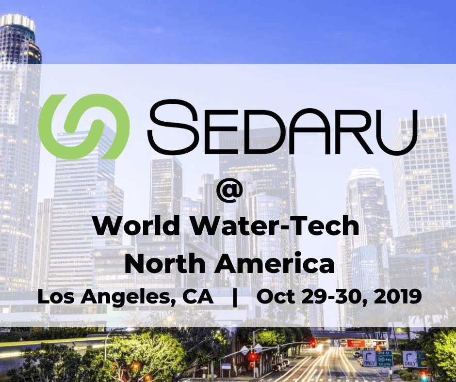 Join Sedaru at World Water-Tech North America in Los Angeles! 1